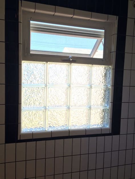 window in bathroom black and white bathroom remodel glass block with awning