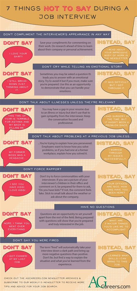 8 Things To Say During by 7 Things Not To Say During An There Are