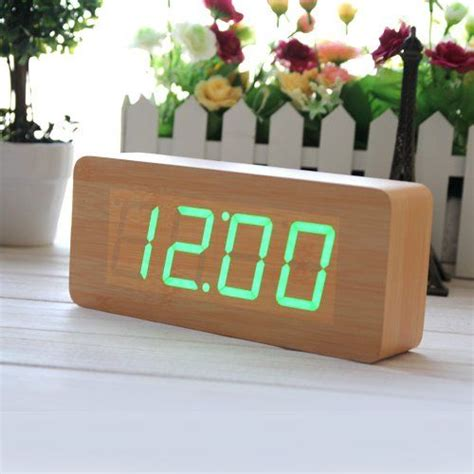 horloge digitale innoo tech r 233 veil matin bois led vert horloge digitale led montre alarm sound innoo