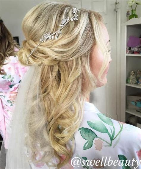 Wedding Hairstyles With Veil Half Up Half by Half Up Half Wedding Hairstyles 50 Stylish Ideas