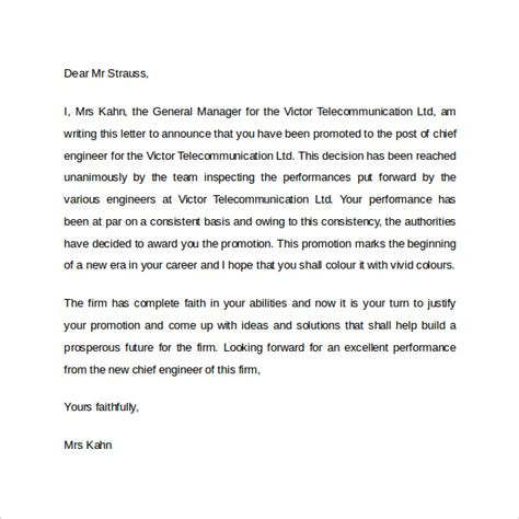 Promotion Letter How To Write Promotion Letter 14 Free Sles Exles Formats