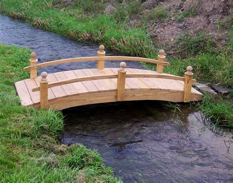 landscape bridges treated pine amelia single rail garden bridge