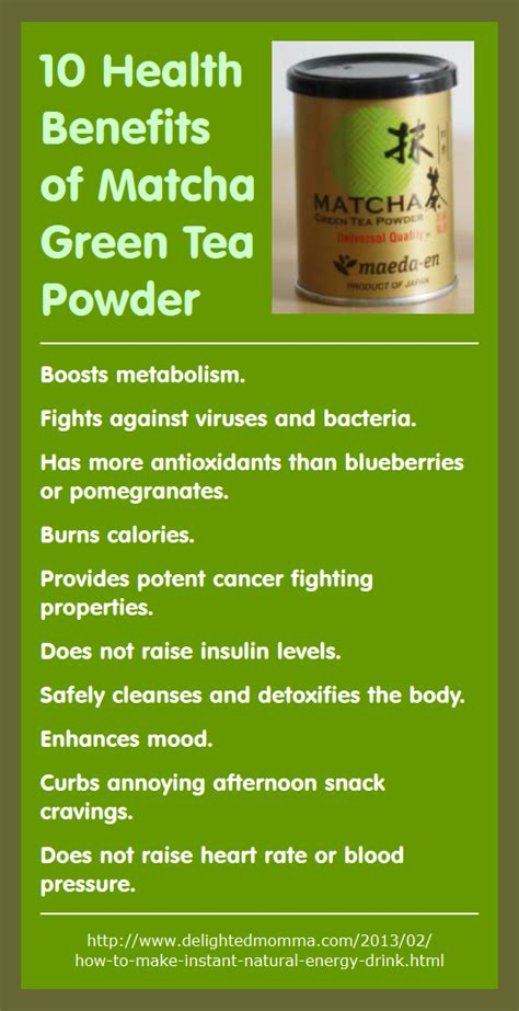 Macha Powder Green Tea 10 health benefits of matcha green tea powder infographic a day