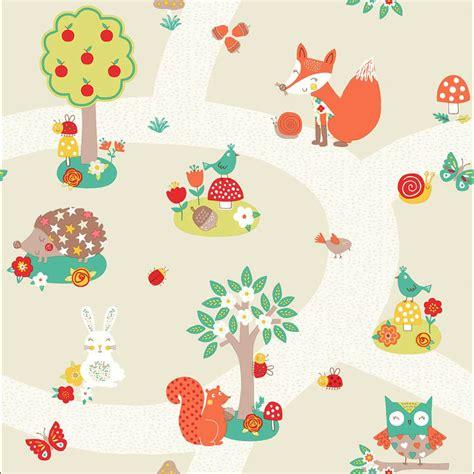 Kinderzimmer Ideen Waldtiere by Tapete Waldtiere Fuchs Eule Waschb 228 R Tiere Des Waldes