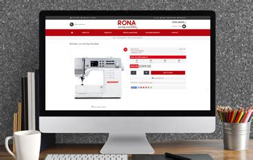 rona sewing machines opencart project opencart ecommerce design