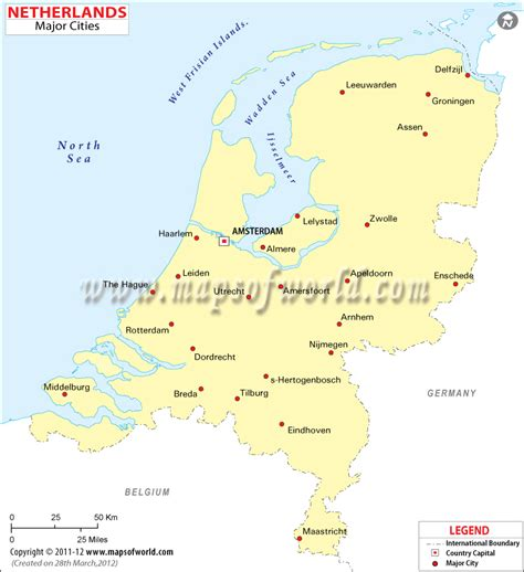 netherlands capital map cities in netherlands map of netherlands cities