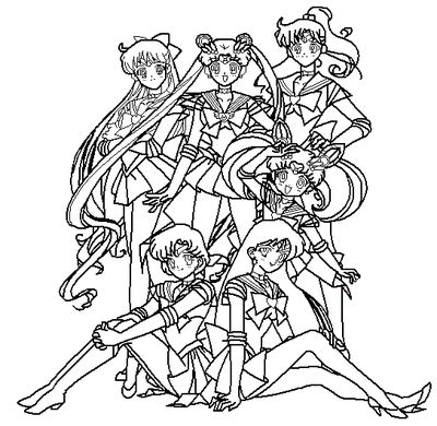 5 scouts coloring page by paramourphoenix on deviantart