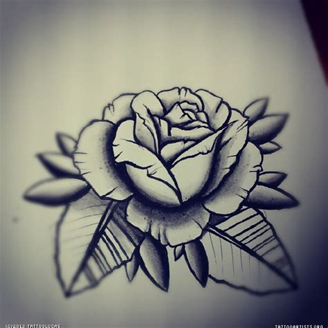 traditional black rose tattoo black and grey artists org
