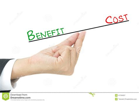 Making Credit Cards - benefit vs cost comparison stock photo image 41764207