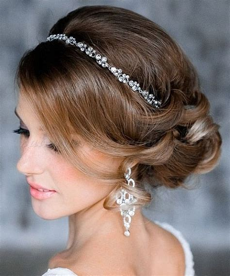 Wedding Hairstyles With Buns by Low Bun Wedding Hairstyles Chignon With Headband