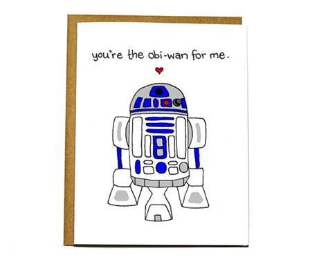 R2d2 Birthday Card Funny Star Wars R2d2 Card Valentine Card You Re The