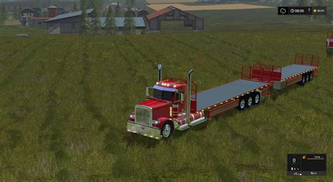 Handcrafted Ls by Peterbilt 388 Flatbed Custom Daycab V1 Ls 17 Farming