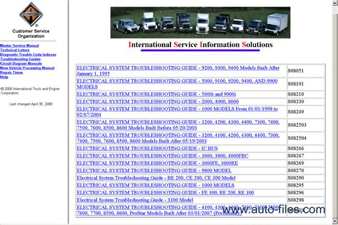international truck 2012 repair manuals
