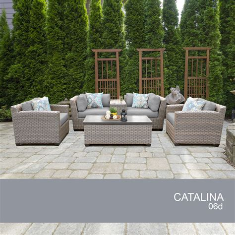 Catalina 6 Piece Outdoor Wicker Patio Furniture Set 06d Ebay Outside Wicker Patio Furniture