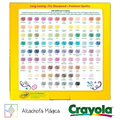 crayola 100 colored pencils crayola 100 lapices de colores diferentes colored pencils