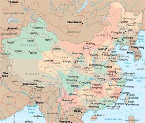 political map of china with cities china map and china satellite images