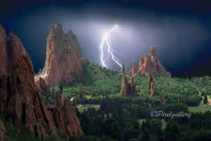 Garden Of The Gods Lighting Lightning Strikes The Garden Of The Gods Colorado Springs