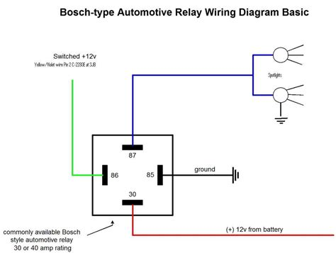 spotlight relay wiring diagram schematics for spotlights