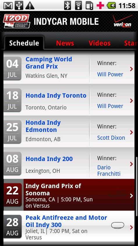 racing post mobile app verizon s indycar mobile app brings you one step closer to