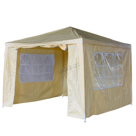 Marquee Awning by Waterproof Beige 3m X 3m Outdoor Garden Gazebo Tent Marquee Awning Canopy