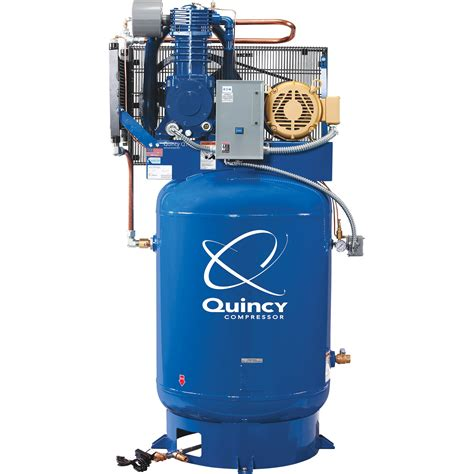 quincy qt 10 splash lubricated reciprocating air compressor with max package 10 hp 230 volt