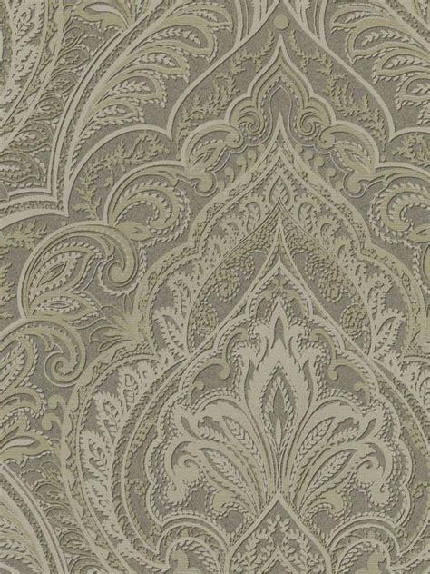 grey wallpaper paisley wallpaper designer large gray taupe paisley damask ebay