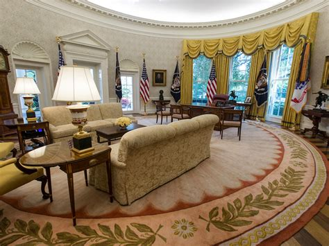 what does the oval office look like today photos white house oval office renovated business insider