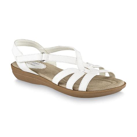 kmart womens sandals basic editions s white cushioned sandal wide