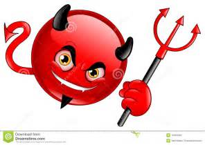 Devil emoticon stock photo image 15453240
