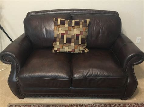 Brown Leather Loveseat For Sale Leather Sofa And Loveseat Rock 78665 500 Home