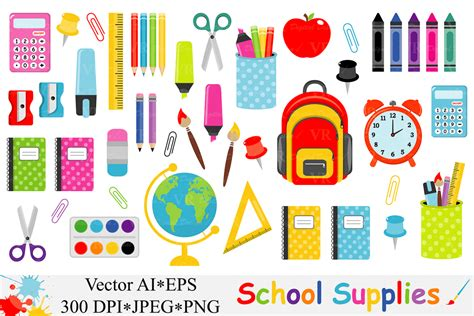 back to school clipart school supplies clipart back to school design bundles