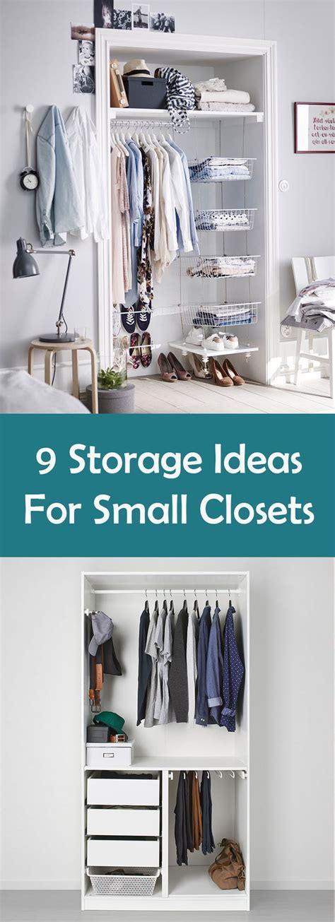 Tiny Closet Storage Solutions by 9 Storage Ideas For Small Closets Contemporist