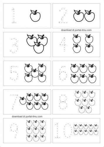 Latihan Menulis Angka belajar menulis angka dengan mengisi titik titik portal