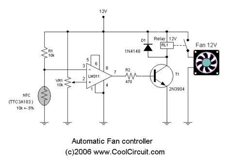 temperature controlled computer fan temperature controlled fan electrical