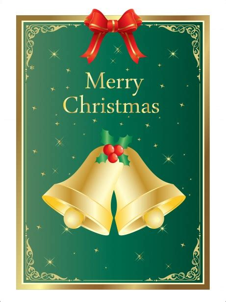 christmas bells card template  stock photo public domain pictures