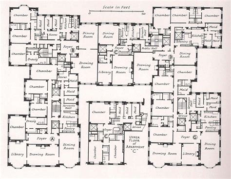 trendy mansion floor plans on floor with typical floor