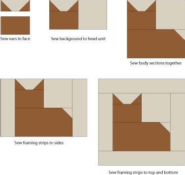 free printable cat quilt patterns make cat quilt blocks for your feline loving friends
