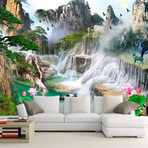 modern  murals wallpapers  living room large nature