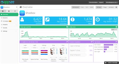 mobile app tracking analytics realtime in app analytics appsee