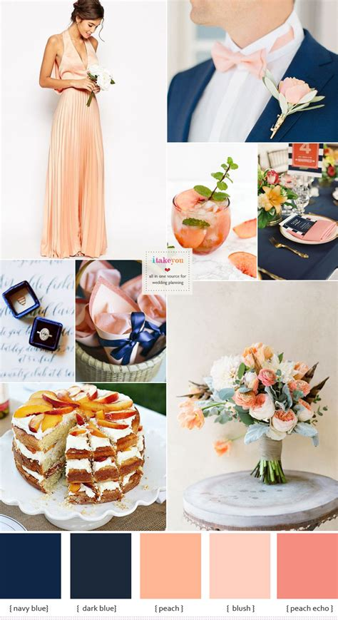 navy blue and wedding colour theme ideas