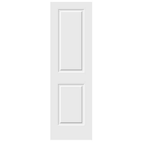 Jeld Wen Doors Interior Jeld Wen 24 In X 80 In C2020 Primed 2 Panel Solid Premium Composite Single Slab Interior