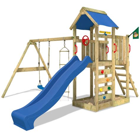 wooden swing climbing frame wickey multiflyer climbing frame wood swing set slide