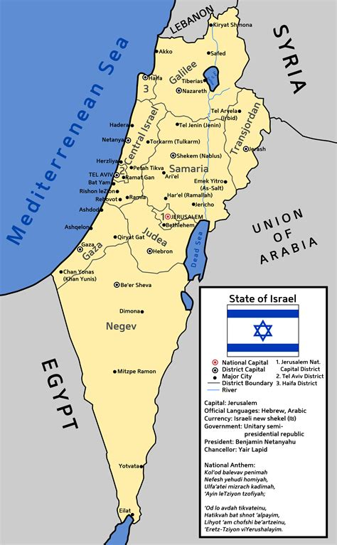 israel map today map of an alternate israel by ieph on deviantart