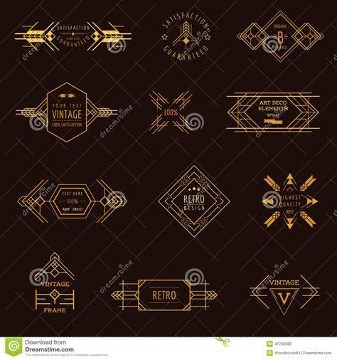 art deco design elements vector art deco vintage frames stock vector image 47705583