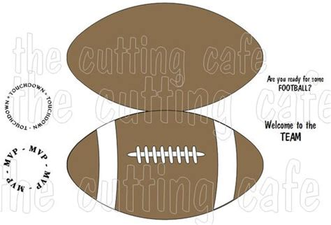 Football Card Template by The Cutting Cafe Football Shaped Card