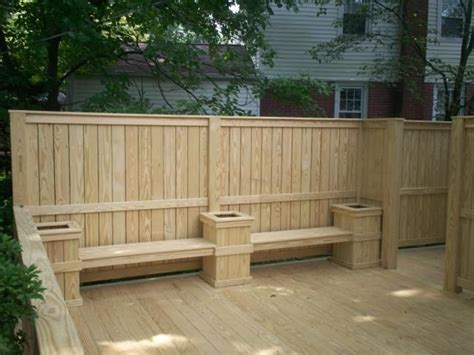 deck planters and benches best 25 deck planters ideas on pinterest deck privacy