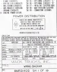 2005 mack cv713 wiring diagram the knownledge