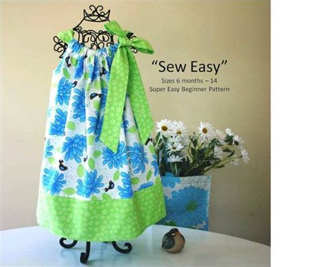 pillowcase pattern pinterest sew easy pillowcase dress pattern instant download pdf