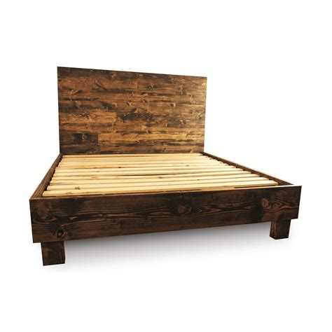 Where To Buy A Platform Bed Frame Buy A Custom Made Rustic Solid Wood Platform Bed Frame Headboard Reclaimed Wood Style Bed