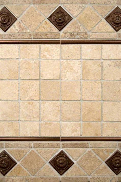 chiaro travertine and copper metal backsplash tile msi